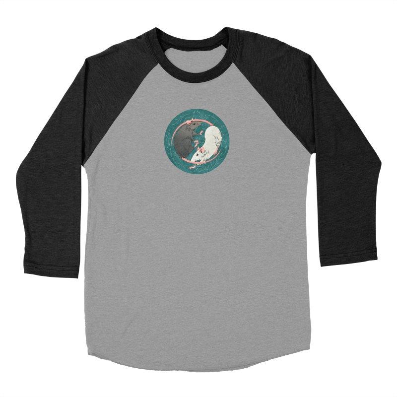 Yin and Yang Rats Men's Baseball Triblend Longsleeve T-Shirt by mwashburnart's Artist Shop