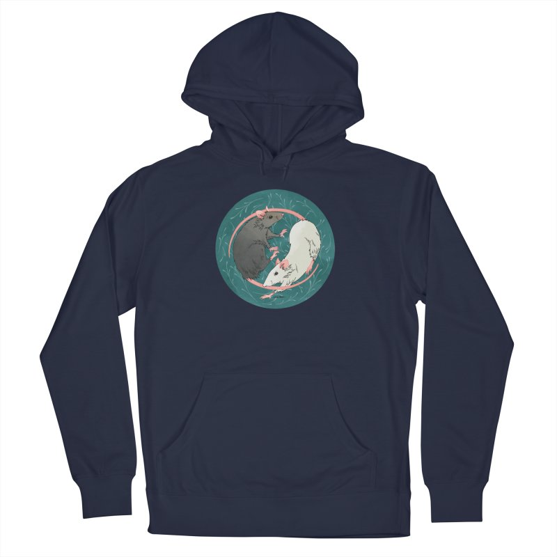 Yin and Yang Rats Women's French Terry Pullover Hoody by mwashburnart's Artist Shop