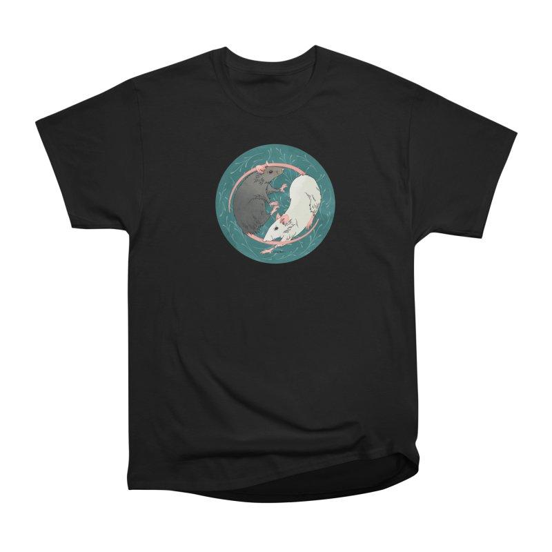 Yin and Yang Rats Women's Heavyweight Unisex T-Shirt by mwashburnart's Artist Shop