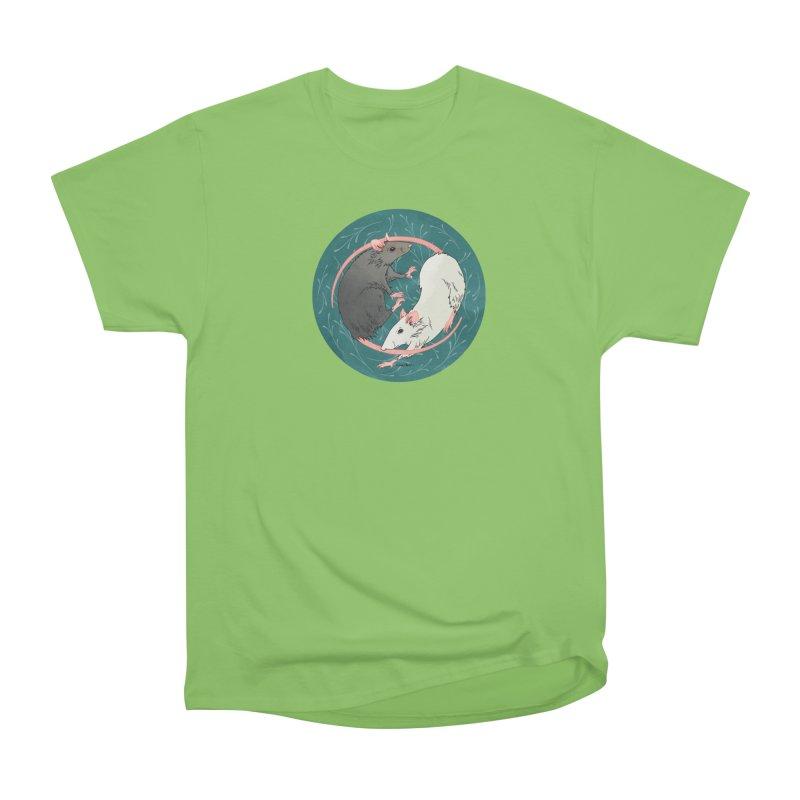 Yin and Yang Rats Men's Heavyweight T-Shirt by mwashburnart's Artist Shop