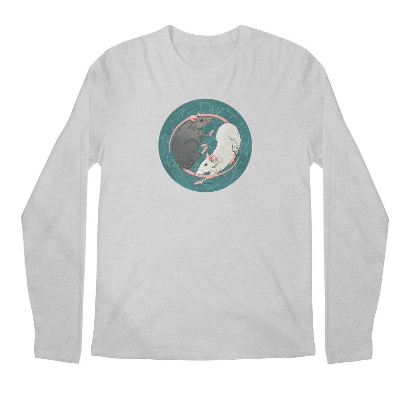 Yin and Yang Rats Men's Regular Longsleeve T-Shirt by mwashburnart's Artist Shop
