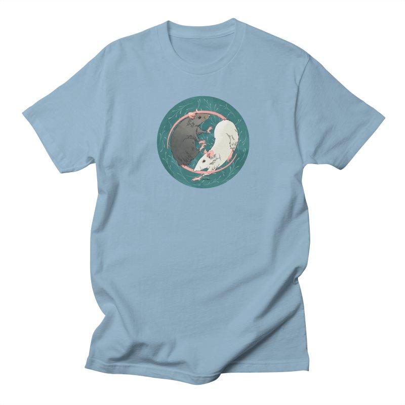 Yin and Yang Rats Men's Regular T-Shirt by mwashburnart's Artist Shop