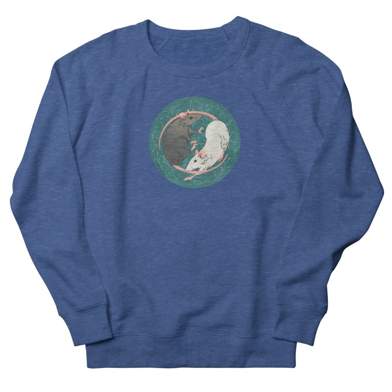 Yin and Yang Rats Women's French Terry Sweatshirt by mwashburnart's Artist Shop