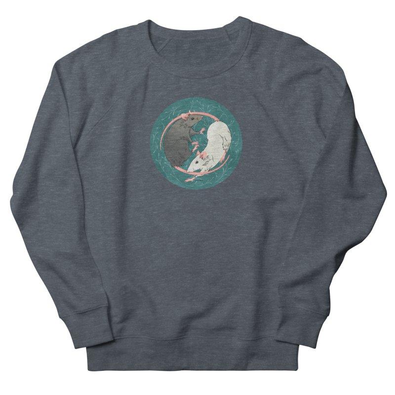 Yin and Yang Rats Women's French Terry Sweatshirt by mwashburnart's Artist Shop