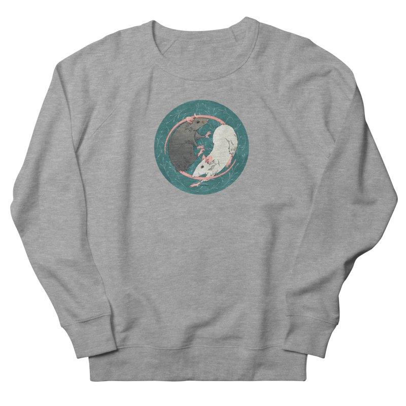 Yin and Yang Rats Men's French Terry Sweatshirt by mwashburnart's Artist Shop