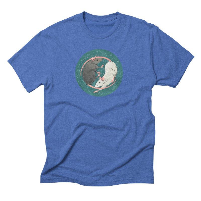 Yin and Yang Rats Men's Triblend T-Shirt by mwashburnart's Artist Shop