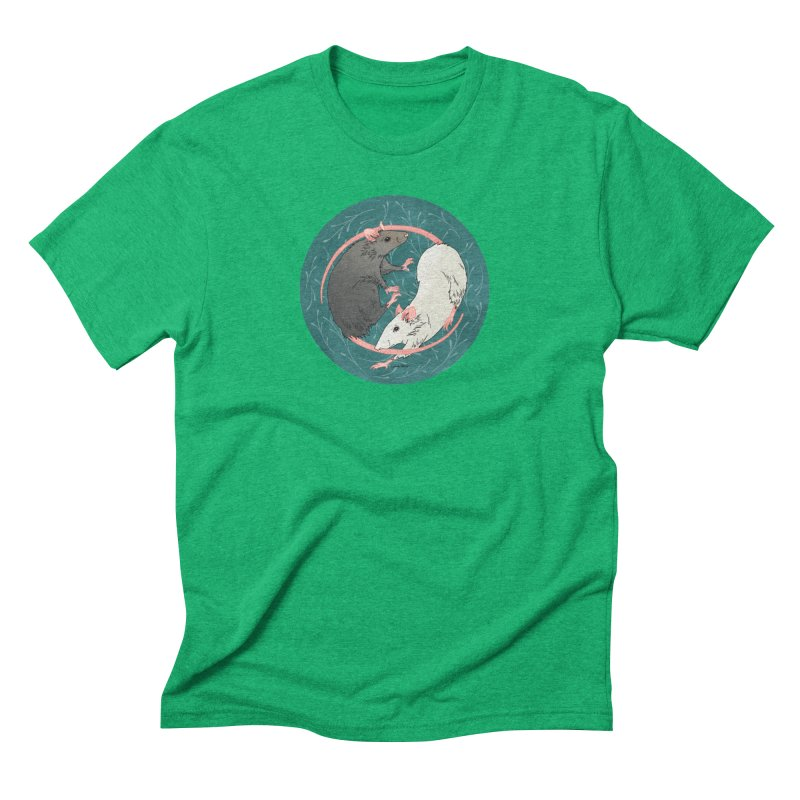 Yin and Yang Rats Men's Triblend T-Shirt by mwashburnart's Artist Shop