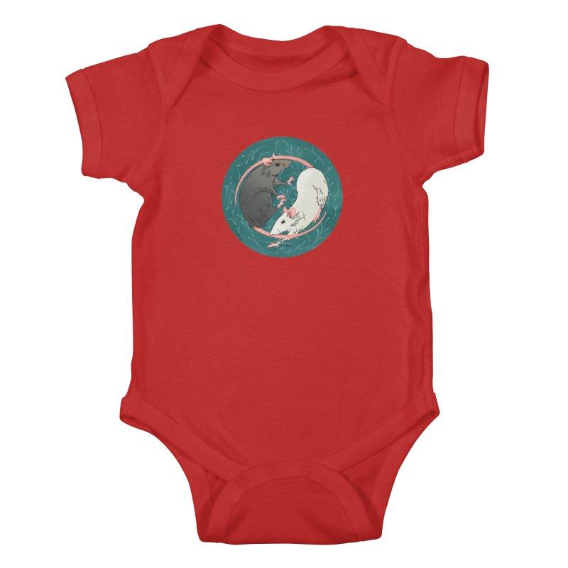 Yin and Yang Rats Kids Baby Bodysuit by mwashburnart's Artist Shop