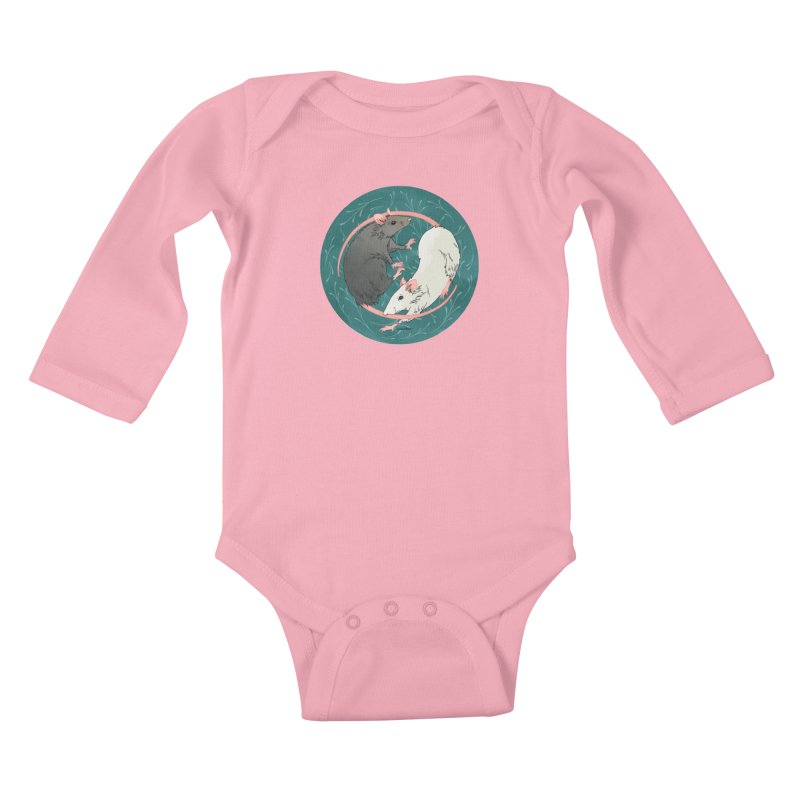 Yin and Yang Rats Kids Baby Longsleeve Bodysuit by mwashburnart's Artist Shop