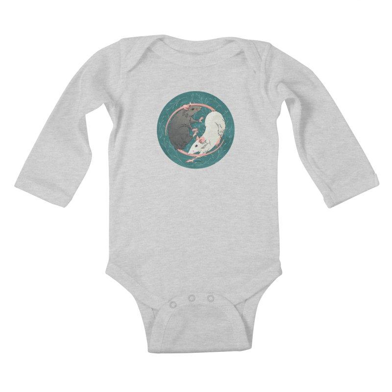 Yin and Yang Rats Kids Baby Longsleeve Bodysuit by mwashburnart's Artist Shop