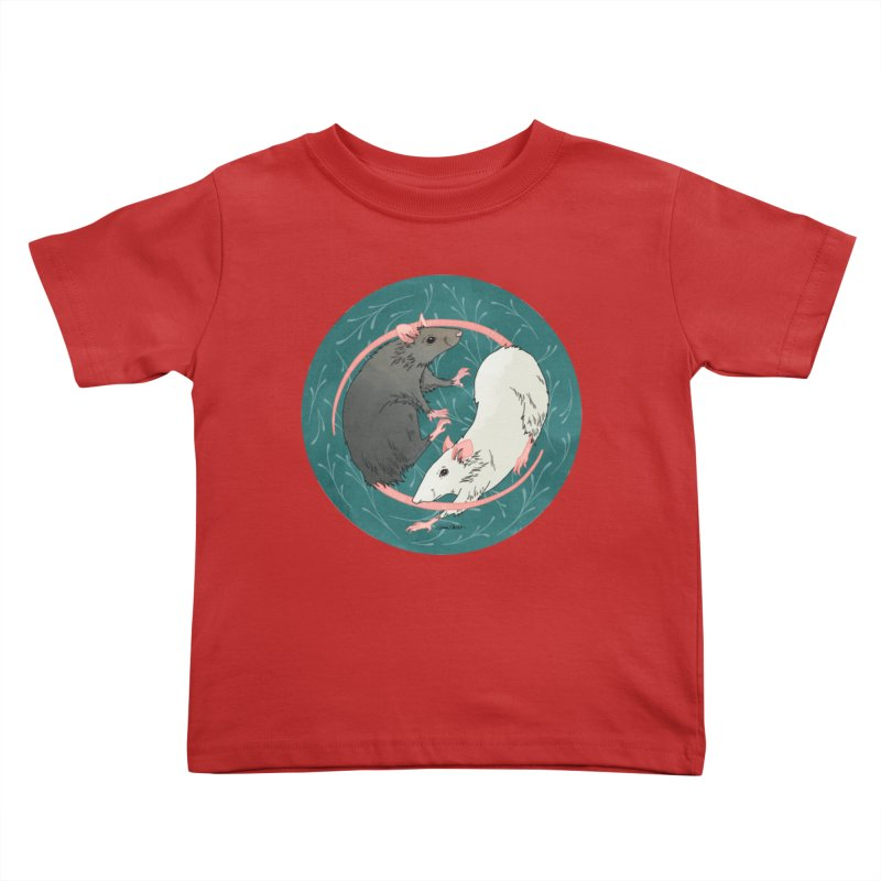 Yin and Yang Rats Kids Toddler T-Shirt by mwashburnart's Artist Shop