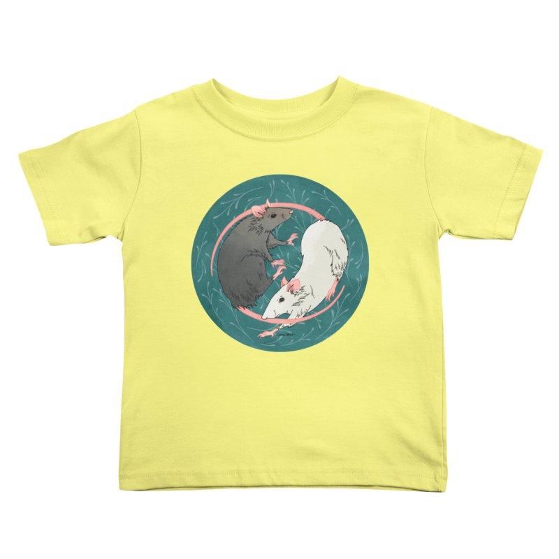 Yin and Yang Rats Kids Toddler T-Shirt by mwashburnart's Artist Shop