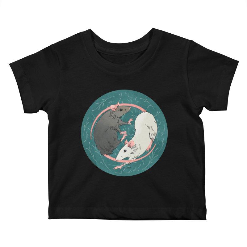 Yin and Yang Rats Kids Baby T-Shirt by mwashburnart's Artist Shop