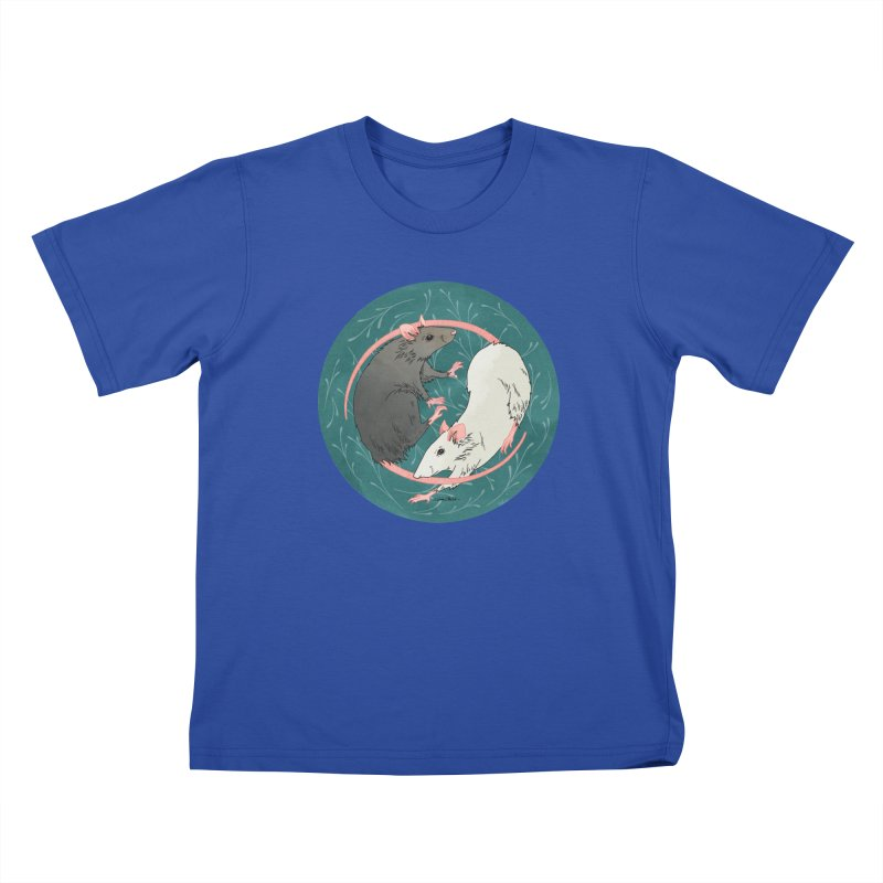 Yin and Yang Rats Kids T-Shirt by mwashburnart's Artist Shop