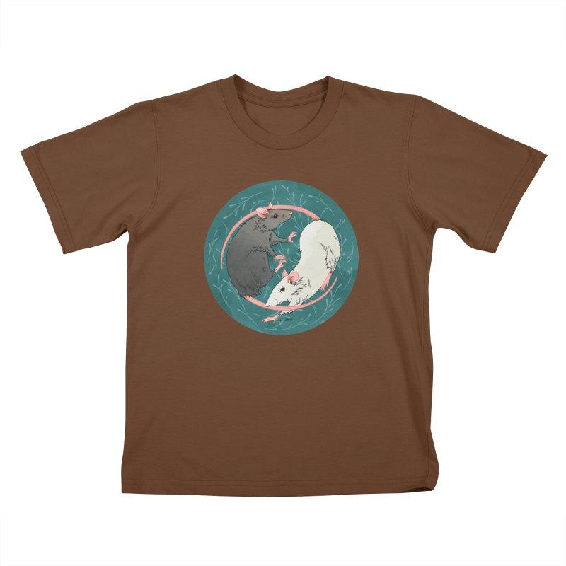 Yin and Yang Rats Kids T-Shirt by mwashburnart's Artist Shop