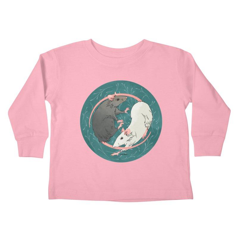 Yin and Yang Rats Kids Toddler Longsleeve T-Shirt by mwashburnart's Artist Shop