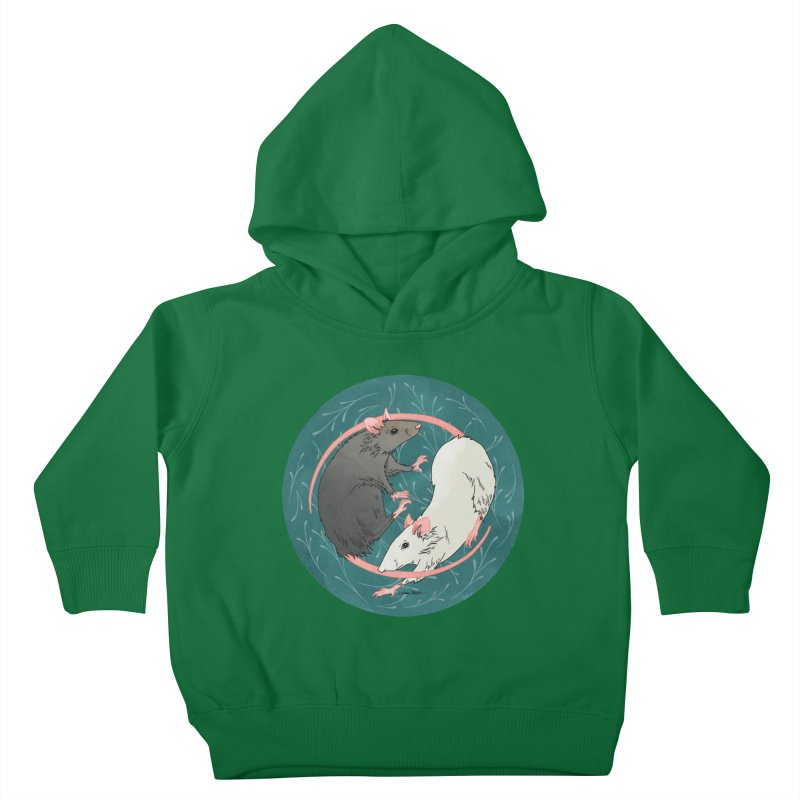 Yin and Yang Rats Kids Toddler Pullover Hoody by mwashburnart's Artist Shop