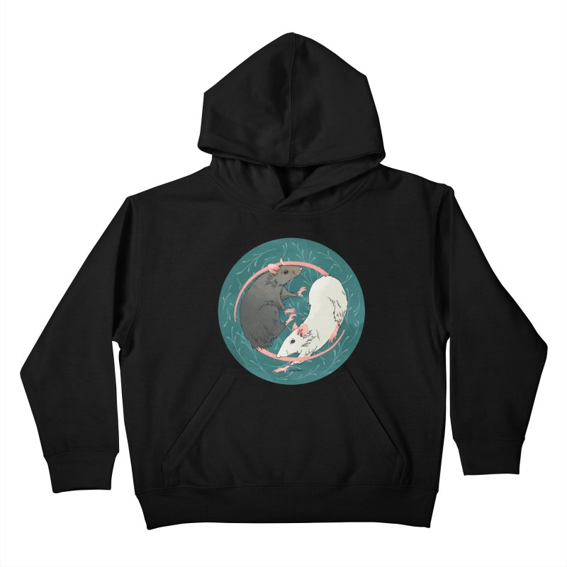 Yin and Yang Rats Kids Pullover Hoody by mwashburnart's Artist Shop