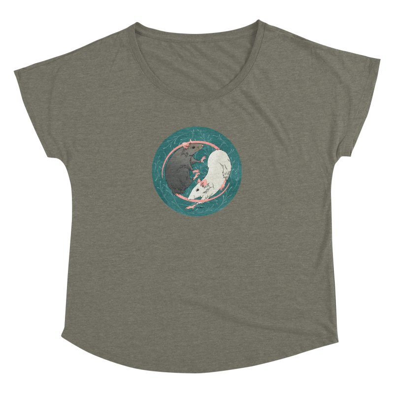 Yin and Yang Rats Women's Dolman Scoop Neck by mwashburnart's Artist Shop