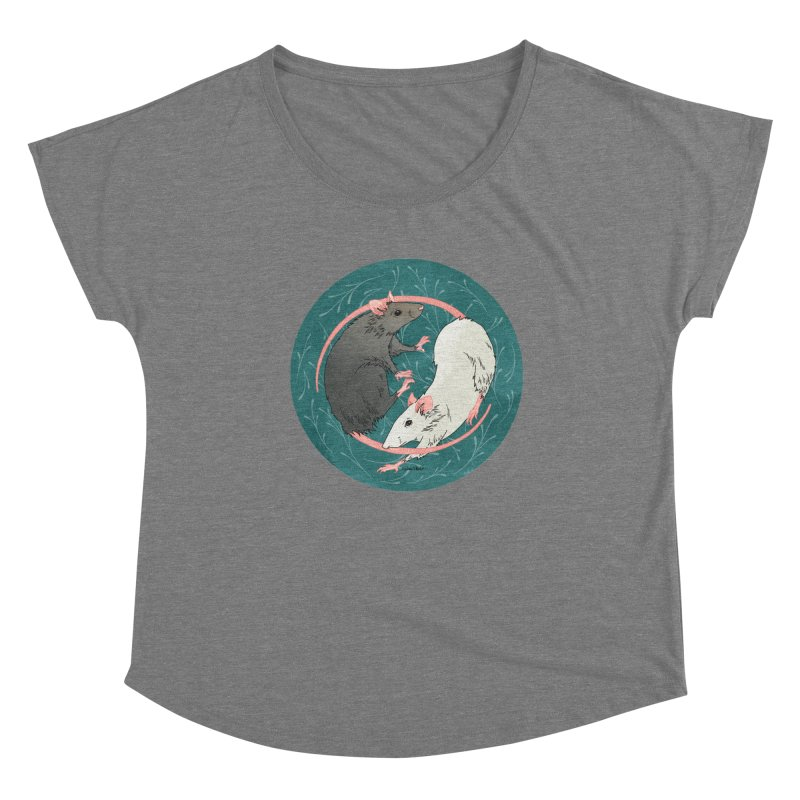 Yin and Yang Rats Women's Scoop Neck by mwashburnart's Artist Shop