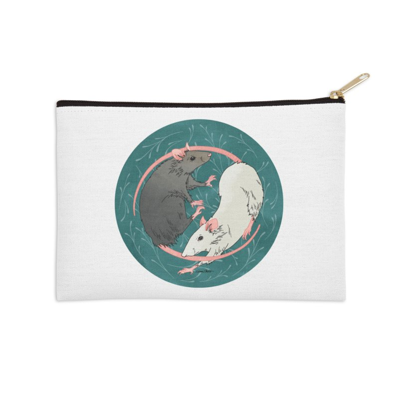 Yin and Yang Rats Accessories Zip Pouch by mwashburnart's Artist Shop