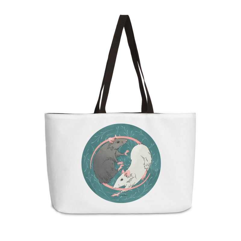 Yin and Yang Rats Accessories Weekender Bag Bag by mwashburnart's Artist Shop