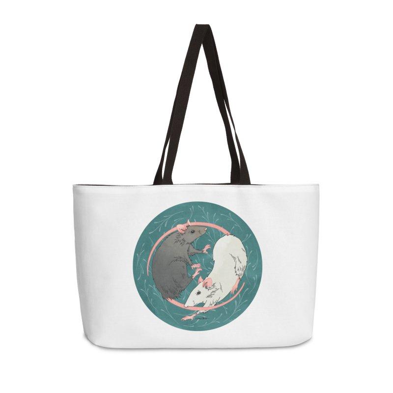 Yin and Yang Rats Accessories Weekender Bag Bag by mwashburnart's Artist Shop