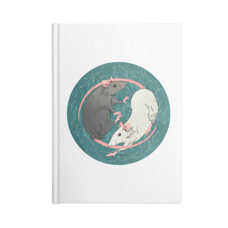 Yin and Yang Rats Accessories Lined Journal Notebook by mwashburnart's Artist Shop