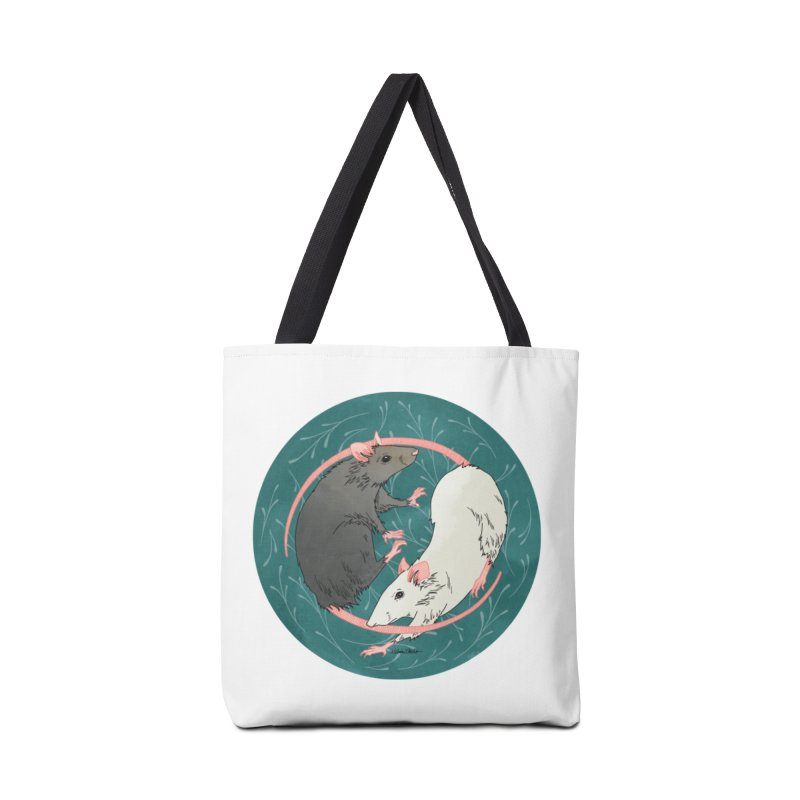 Yin and Yang Rats Accessories Tote Bag Bag by mwashburnart's Artist Shop
