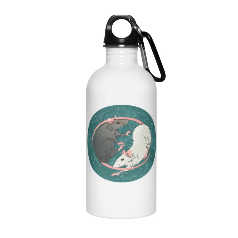 Yin and Yang Rats Accessories Water Bottle by mwashburnart's Artist Shop