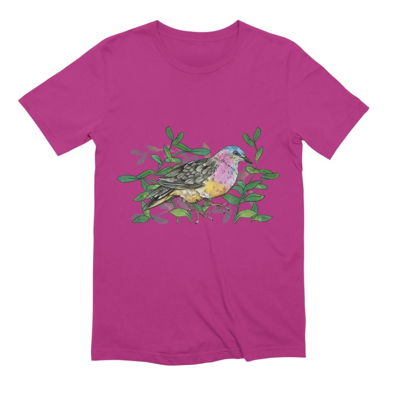 Tolima Dove Men's Extra Soft T-Shirt by mwashburnart's Artist Shop