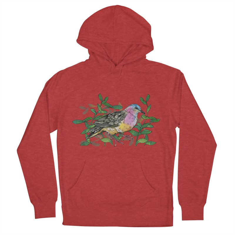 Tolima Dove Men's French Terry Pullover Hoody by mwashburnart's Artist Shop