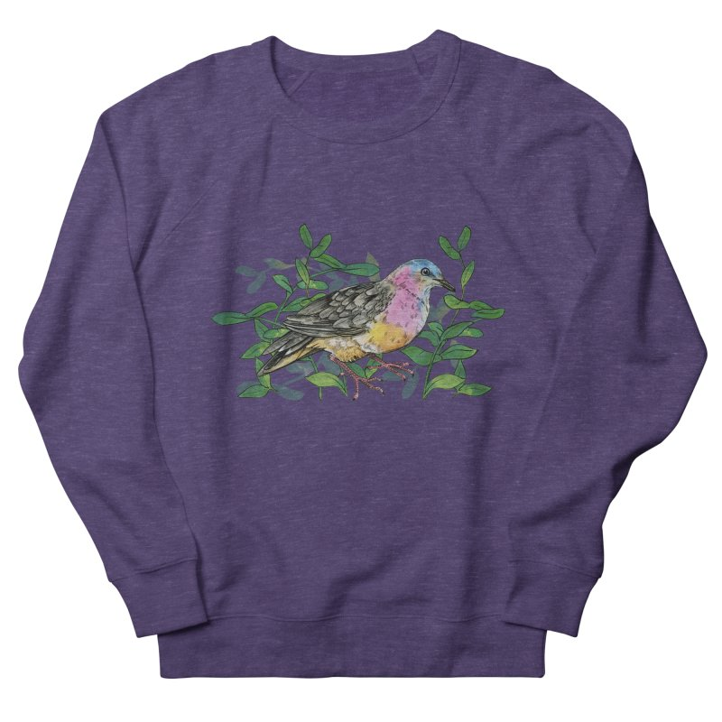 Tolima Dove Men's French Terry Sweatshirt by mwashburnart's Artist Shop