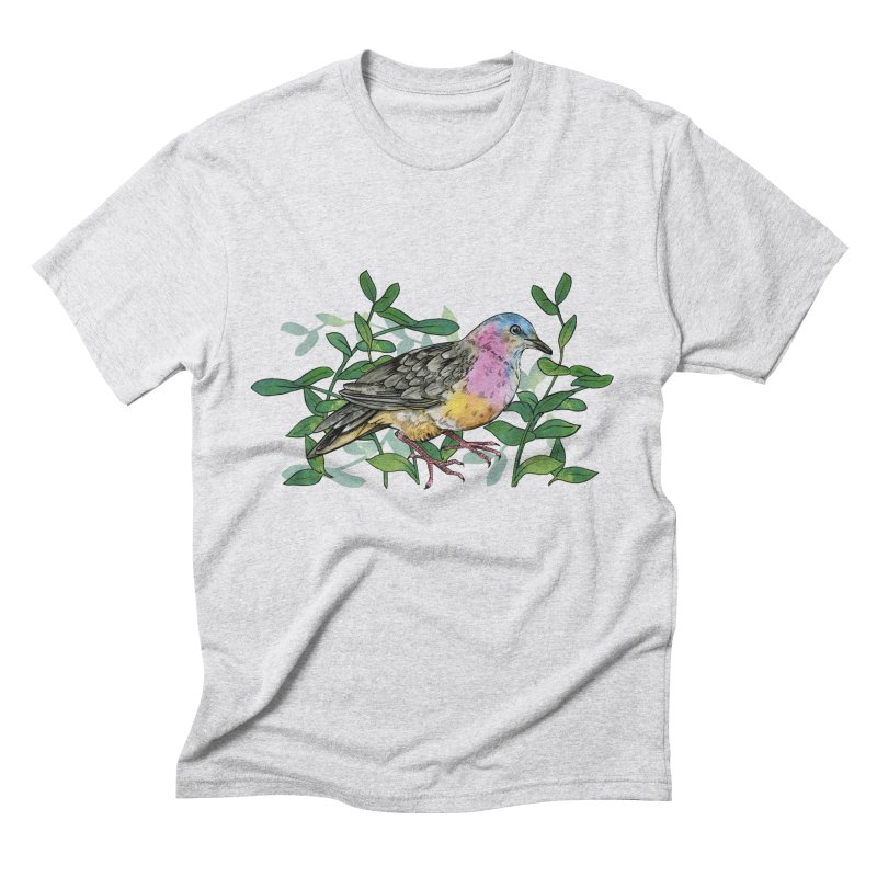 Tolima Dove Men's Triblend T-Shirt by mwashburnart's Artist Shop