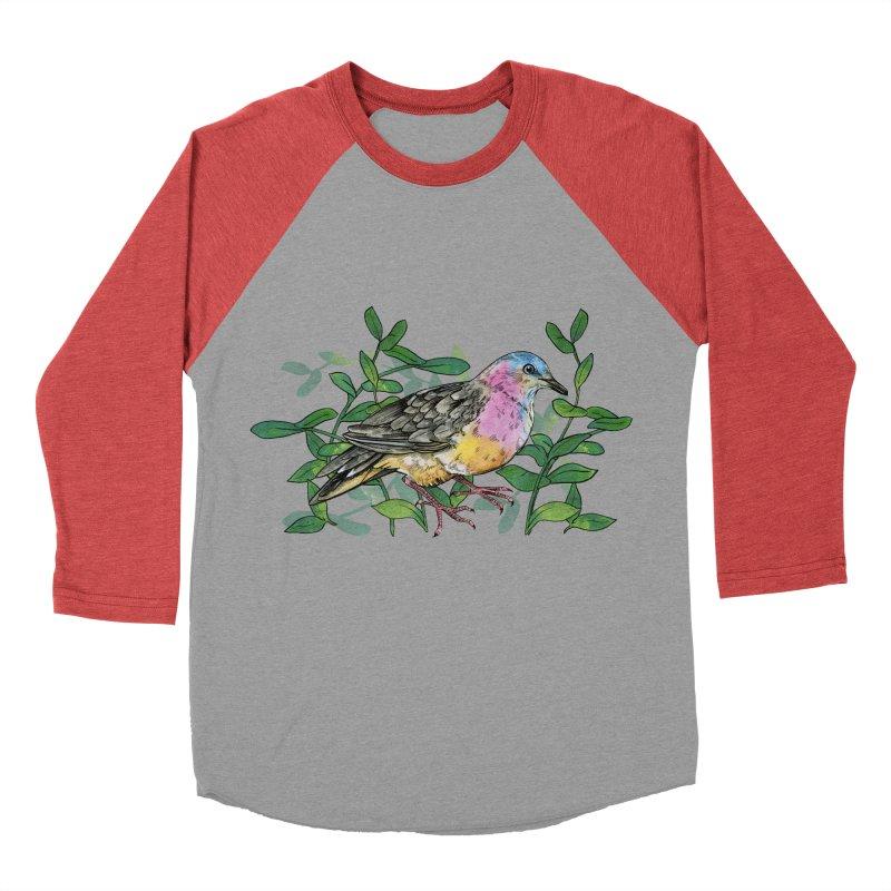 Tolima Dove Men's Baseball Triblend Longsleeve T-Shirt by mwashburnart's Artist Shop