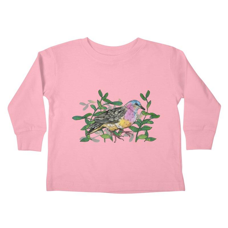 Tolima Dove Kids Toddler Longsleeve T-Shirt by mwashburnart's Artist Shop