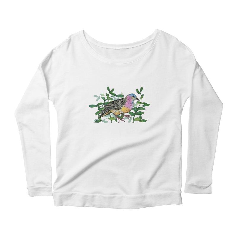 Tolima Dove Women's Scoop Neck Longsleeve T-Shirt by mwashburnart's Artist Shop