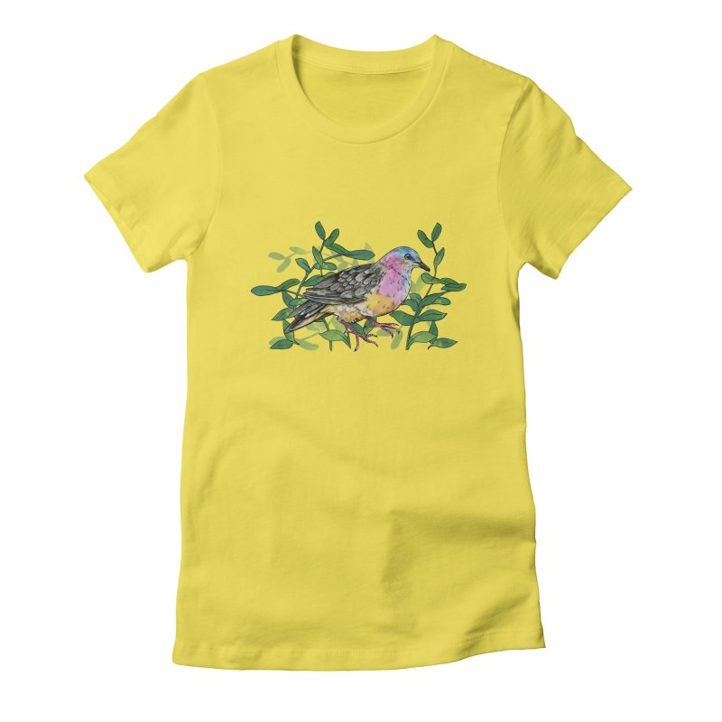 Tolima Dove Women's Fitted T-Shirt by mwashburnart's Artist Shop