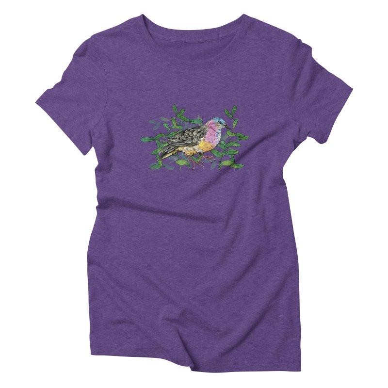 Tolima Dove Women's Triblend T-Shirt by mwashburnart's Artist Shop
