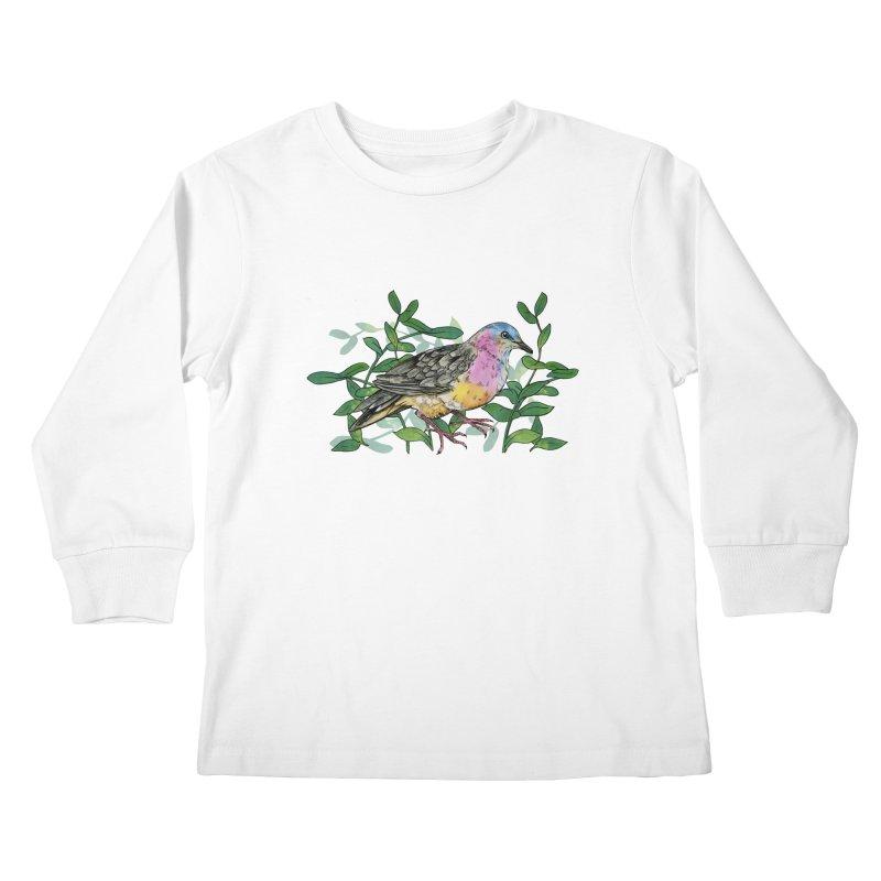 Tolima Dove Kids Longsleeve T-Shirt by mwashburnart's Artist Shop