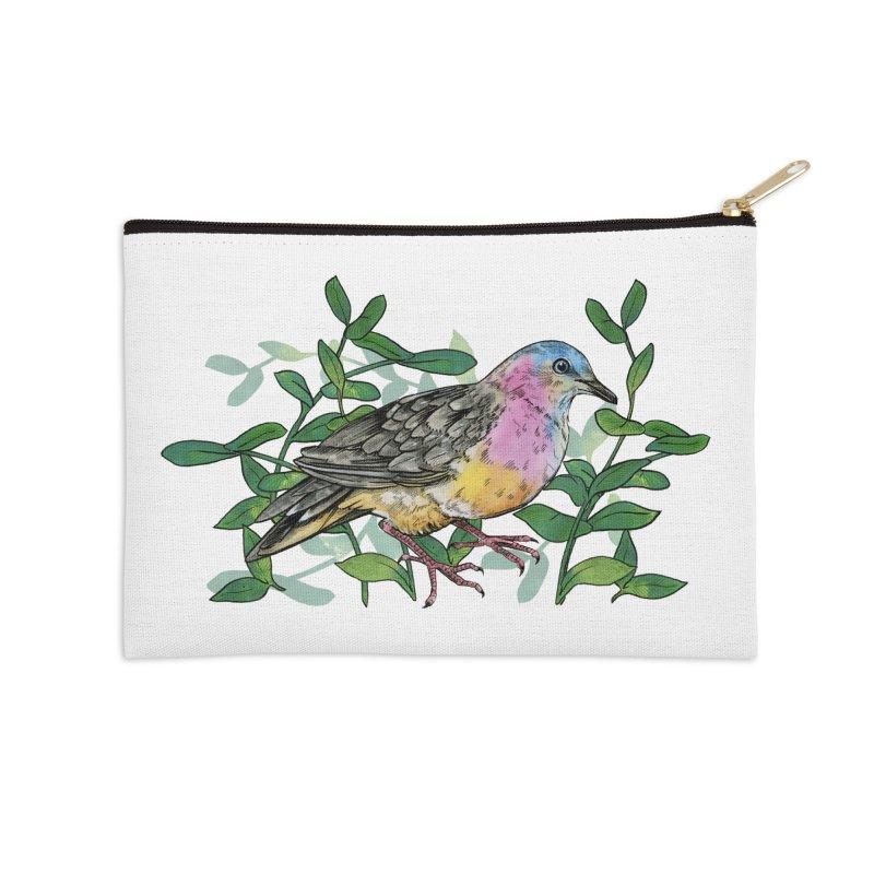Tolima Dove Accessories Zip Pouch by mwashburnart's Artist Shop