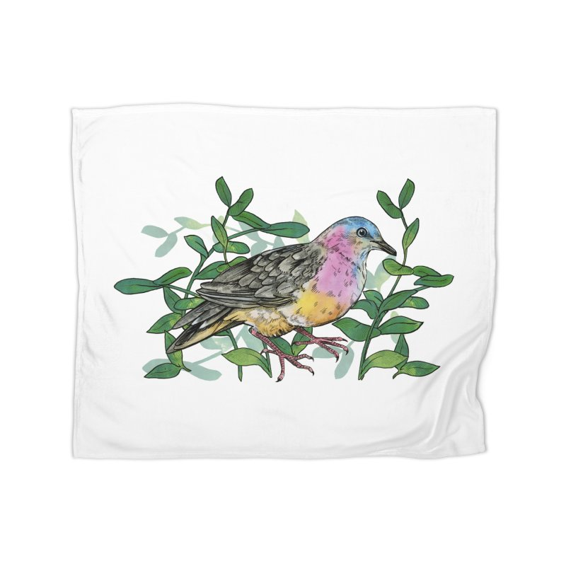 Tolima Dove Home Fleece Blanket Blanket by mwashburnart's Artist Shop