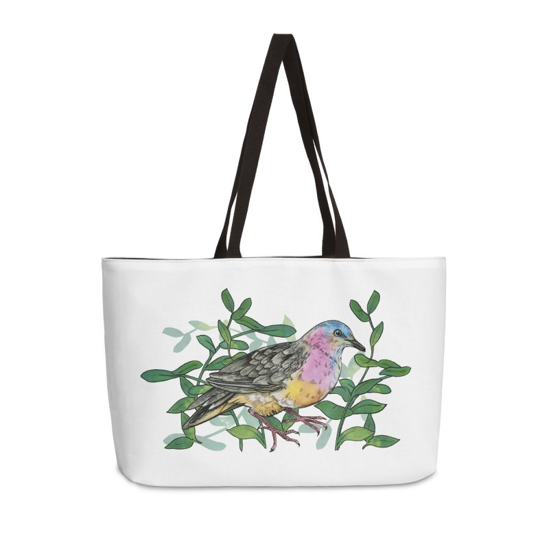 Tolima Dove Accessories Weekender Bag Bag by mwashburnart's Artist Shop