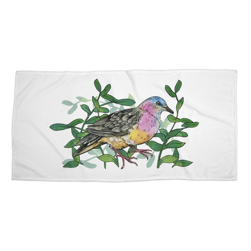 Tolima Dove Accessories Beach Towel by mwashburnart's Artist Shop
