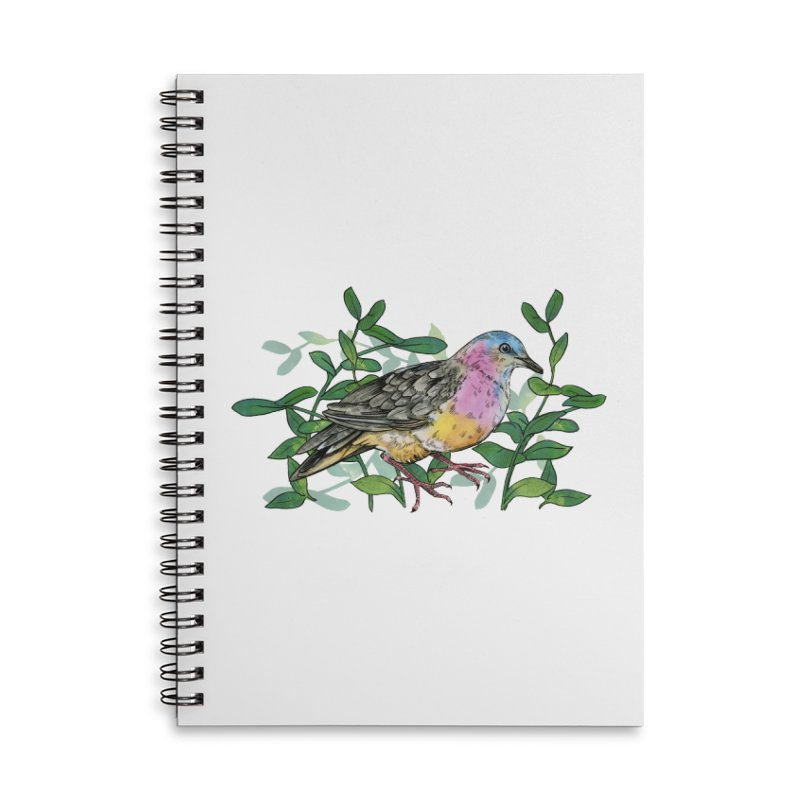 Tolima Dove Accessories Lined Spiral Notebook by mwashburnart's Artist Shop