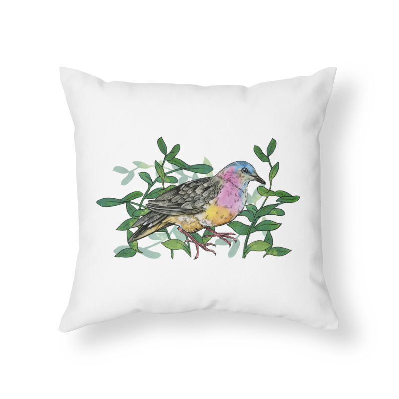Tolima Dove Home Throw Pillow by mwashburnart's Artist Shop