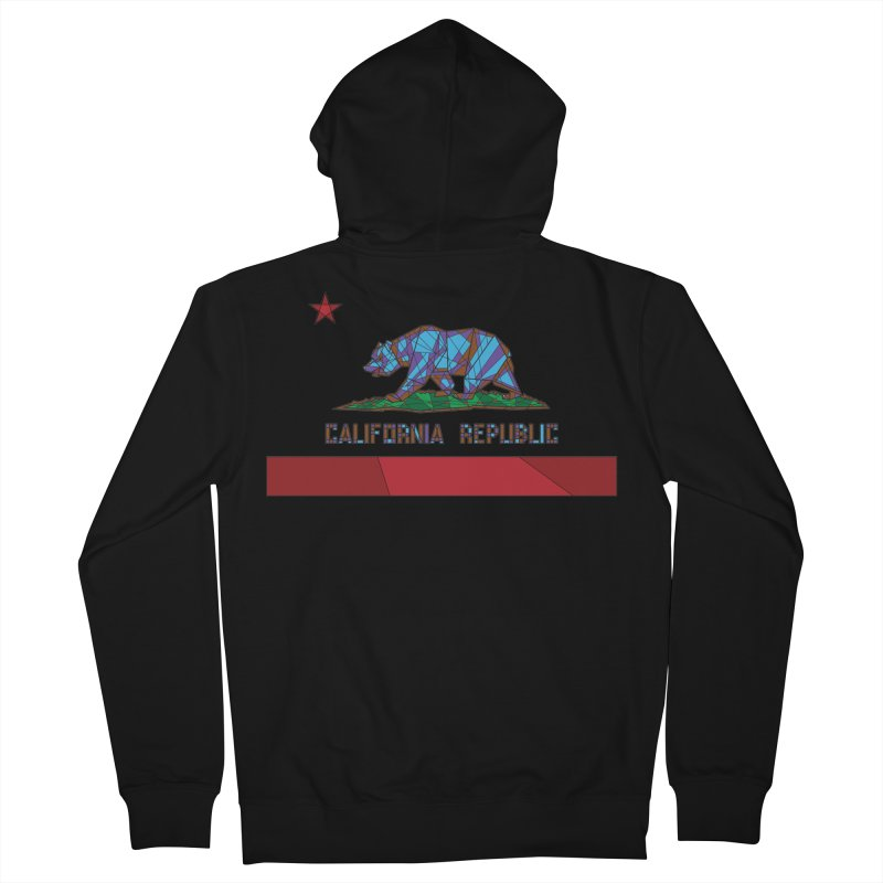 California Bear Flag Men's French Terry Zip-Up Hoody by MXMINK