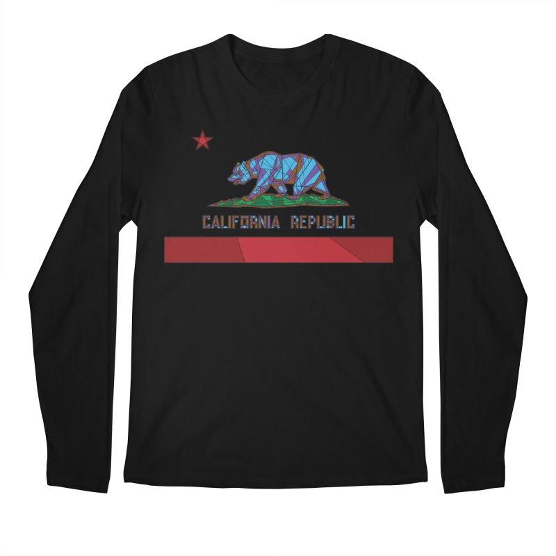 California Bear Flag Men's Longsleeve T-Shirt by MXMINK