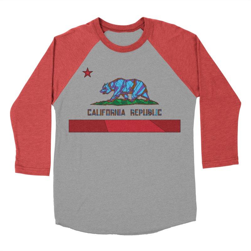 California Bear Flag Men's Baseball Triblend Longsleeve T-Shirt by MXMINK