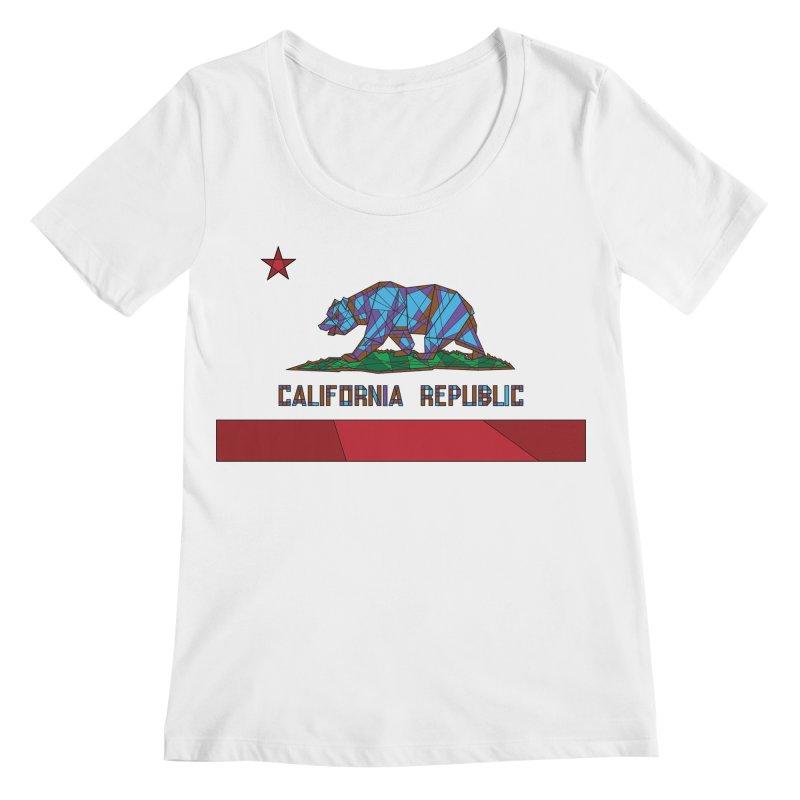 California Bear Flag Women's Regular Scoop Neck by MXMINK